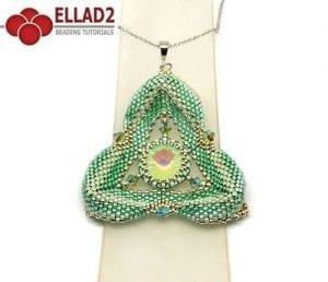 Kralen Tutorial Minty Triangle Hanger Ellad2